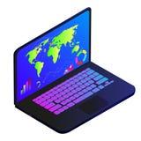 Wektorowy rysunek laptop na białym tle ilustracja wektor