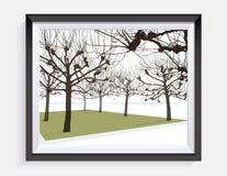 Wektorowy rysunek nabrzeże park Fotografia Stock