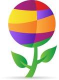 Abstrakcjonistyczna kuli ziemskiej roślina Obrazy Stock