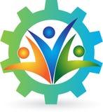 Fabryczny logo Obrazy Royalty Free