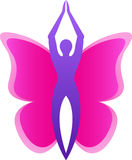 Motyli logo Obrazy Stock