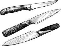 Noże Obrazy Royalty Free