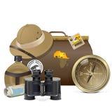 Wektorowy safari akcesoriów pojęcie Zdjęcia Stock