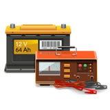 Wektorowy Samochodowej baterii ładunku pojęcie Zdjęcia Stock