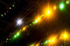 Wektorowy sceny światło reflektorów z Laserowymi promieniami Obrazy Stock