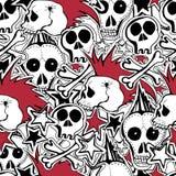 Wektorowy seamles wzór Punk rock abstrakta tło Zdjęcie Royalty Free