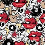 Wektorowy seamles wzór Punk rock abstrakta tło Zdjęcia Royalty Free