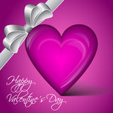 Wektorowy serce - Szczęśliwy walentynka dzień Zdjęcia Royalty Free
