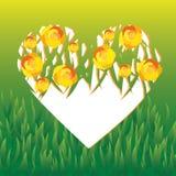 Wektorowy serce zakrywający z różami ilustracji