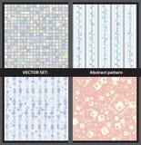 Wektorowy set - abstraktów wzory Zdjęcie Stock