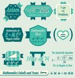 Wektorowy Set: Rocznika Matematyki Etykietki i Ikony Zdjęcie Royalty Free