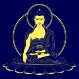 Wektorowy Siedzący Buddha Obrazy Royalty Free