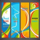 Wektorowy skład fala zespoły z różnymi kolorami przeplata wliczając sportów symboli/lów ilustracja wektor
