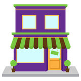 Wektorowy sklepu przód, sklep z okno i znakiem lub Fotografia Royalty Free