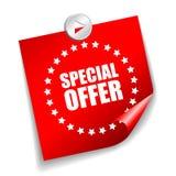 Wektorowy specjalnej oferty majcher Fotografia Stock
