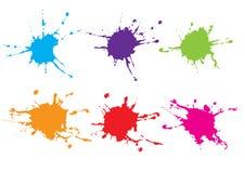 Wektorowy splatter koloru paczki projekt abstrakcjonistyczna tła projekta ilustraci mozaika Zdjęcie Stock