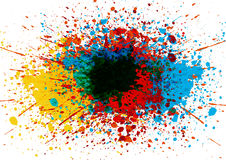 Wektorowy splatter koloru tło abstrakcjonistyczna tła projekta ilustraci mozaika Zdjęcie Stock