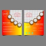 Wektorowy sprawozdanie roczne ulotki broszurki ulotki szablonu projekt, książkowej pokrywy układu projekt, Abstrakcjonistyczni sz royalty ilustracja