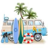 Wektorowy surfingu weekendu pojęcie ilustracji