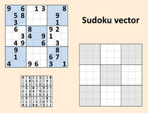 Wektorowy Symetryczny Sudoku ilustracji