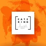 Wektorowy szablon catering firmy logo Obrazy Royalty Free