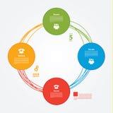 Wektorowy szablon. Colorfully plan, tutorial lub prezentacja. Crea Royalty Ilustracja