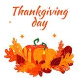 Wektorowy szablon dedykujący jesień wakacyjny thankgiving dzień obraz stock