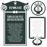 Wektorowy szablonu koncerta program, koperta, inni kartka z pozdrowieniami i zaproszenia, lub Zdjęcie Stock