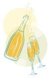 Wektorowy szampan Fotografia Royalty Free