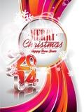 Wektorowy Szczęśliwy 2014 nowego roku świętowania kolorowy tło Fotografia Stock