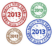 Wektorowy Szczęśliwy nowego roku znaczek Zdjęcia Stock