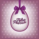 Wektorowy Szczęśliwy Wielkanocny kartka z pozdrowieniami szablon z hiszpańszczyzny Feliz Pascua tekstem Zdjęcia Royalty Free