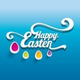 Wektorowy Szczęśliwy Wielkanocny Typographical tło Obraz Royalty Free