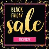 Wektorowy sztandar dla Black Friday sprzedaży Nowożytny mody sieci sztandar Zdjęcie Stock