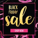 Wektorowy sztandar dla Black Friday sprzedaży Nowożytny mody sieci sztandar Obrazy Royalty Free