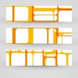 Wektorowy sztandar ustawiający dla twój projekta Zdjęcie Stock