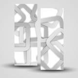 Wektorowy sztandar ustawiający dla twój projekta Zdjęcie Royalty Free