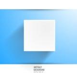 Wektorowy sztandaru tło. Biały kwadrat Fotografia Royalty Free
