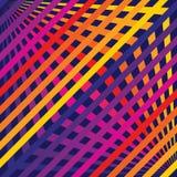 Wektorowy tęcz linii wzór Bezszwowa tekstura z diagonalnym skrzyżowaniem lampasa ilustracji