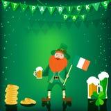 Wektorowy tło dedykował St Patrick ` s dzień ilustracji