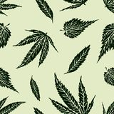 Wektorowy tło liście różne rośliny zdjęcie royalty free