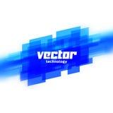 Wektorowy tło z błękitnymi zamazanymi liniami Fotografia Royalty Free