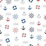 Wektorowy tło z doodle żołnierza piechoty morskiej symbolami Obraz Stock
