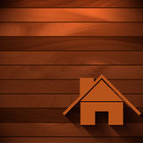 Wektorowy tło z drewnianą teksturą Zdjęcia Royalty Free