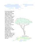 Wektorowy tło z drzewem prostokąty Ilustracja Wektor