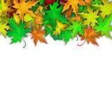 Wektorowy tło z kolorowymi jesień liśćmi Fotografia Royalty Free
