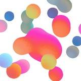 Wektorowy tło z kolorowymi kroplami fotografia stock