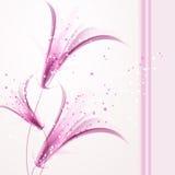 Wektorowy tło z miękkimi kwiatami Obrazy Stock