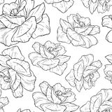 Wektorowy tło z ręka rysującym kwiatem Obrazy Royalty Free