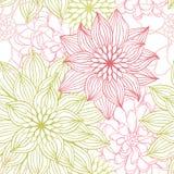 Wektorowy tło z ręka rysującymi kwiatami Fotografia Royalty Free